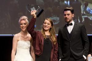 Staatsmeisterin Christina Hofer mit ihren Modellen